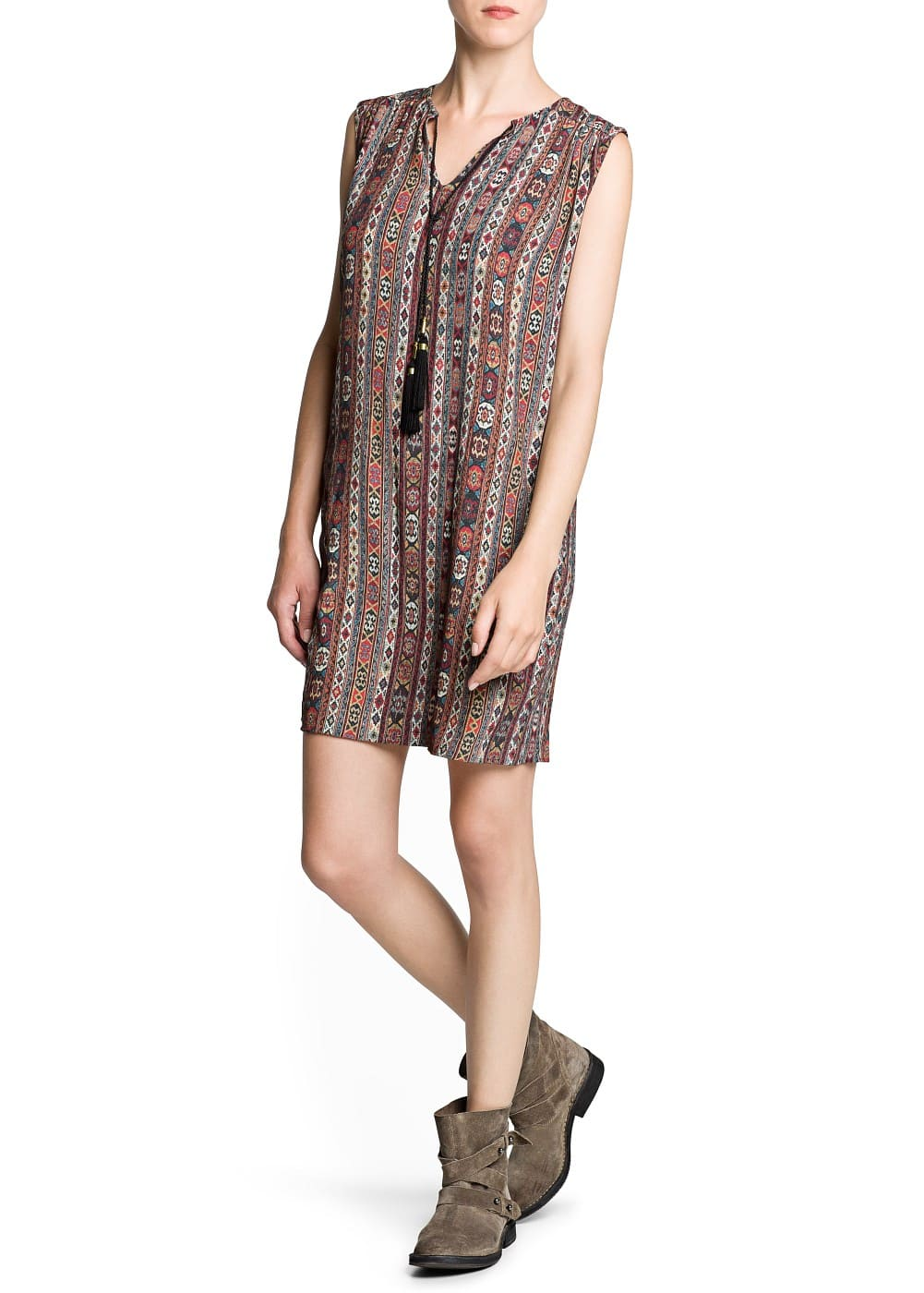 Ethnic print shift dress | MANGO