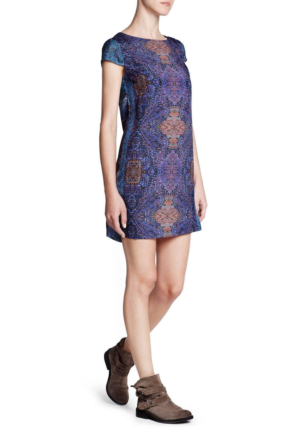 Scarf print shift dress | MANGO
