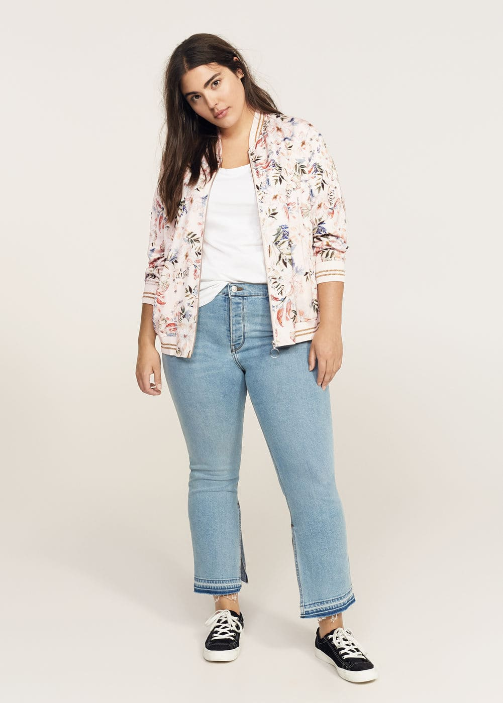 Printed bomber jacket | VIOLETA BY MNG