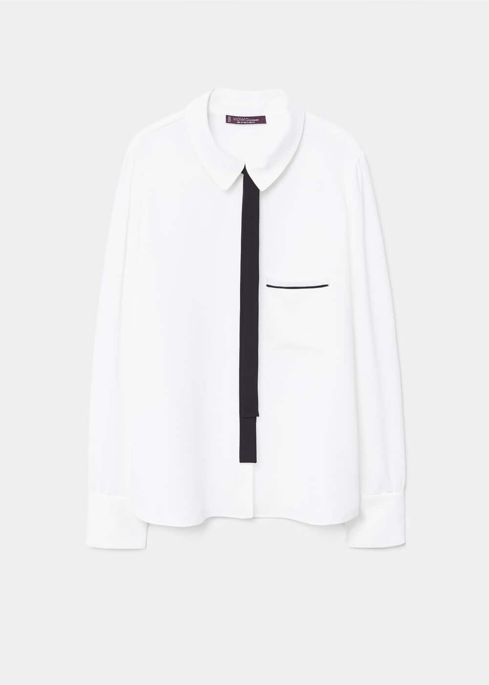 Decorative bow blouse | VIOLETA BY MANGO