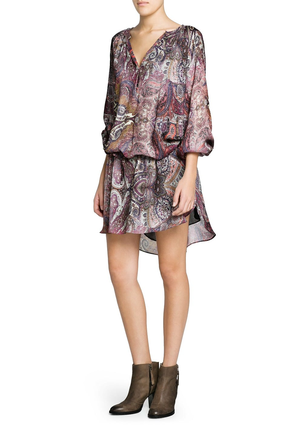 Paisley print lightweight dress | MANGO