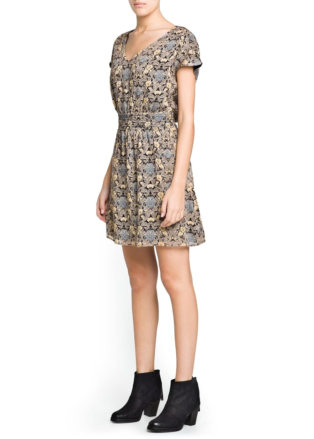 Floral wool-blend dress | MANGO