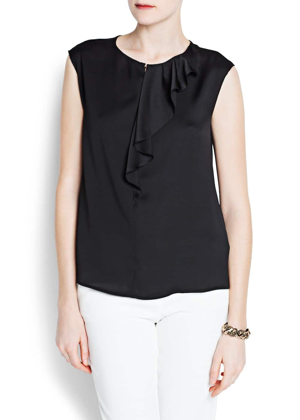 Ruffled detail blouse | MANGO
