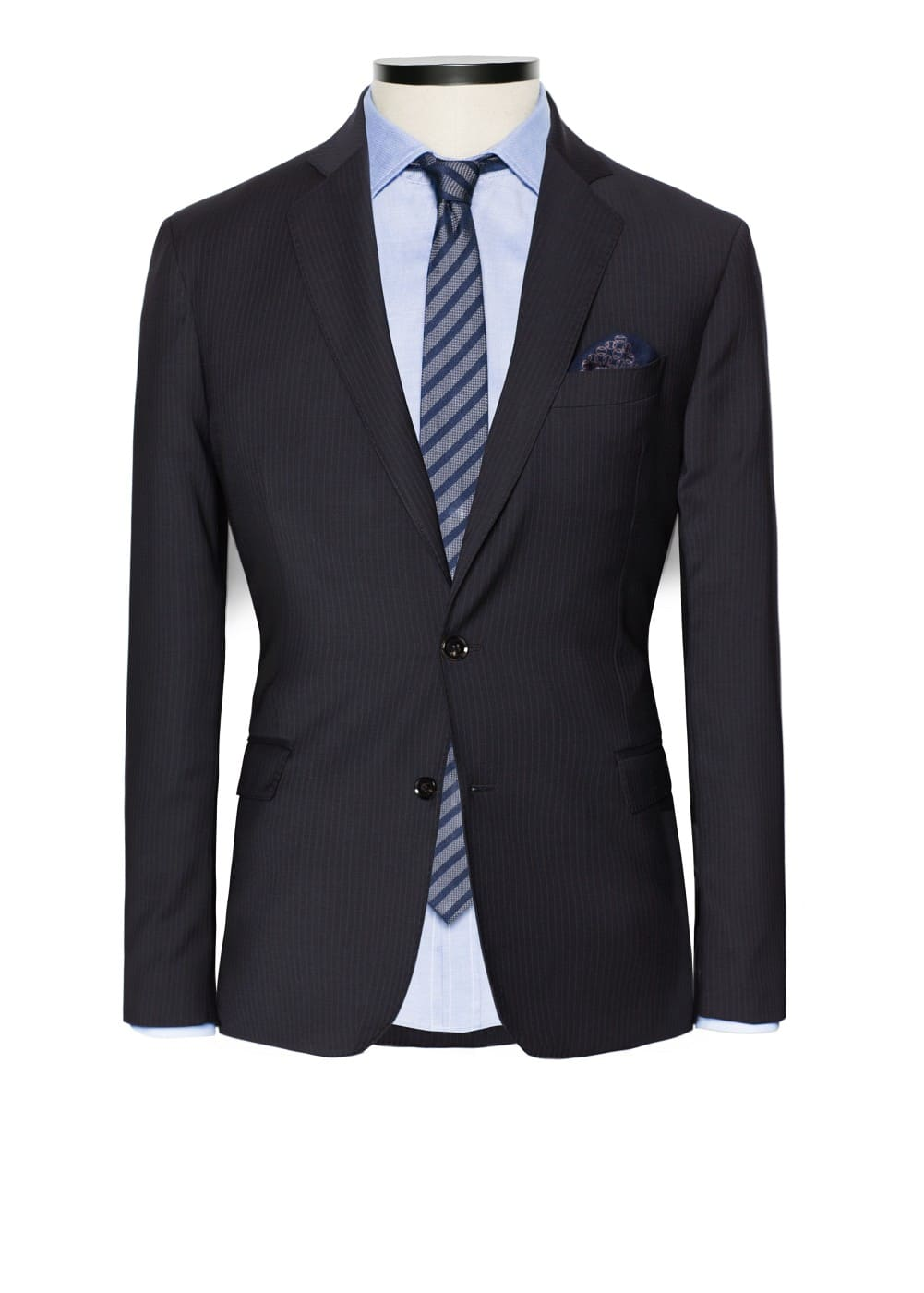 Pinstripe tailored blazer | MANGO MAN