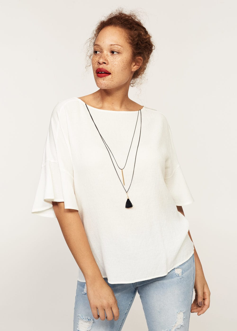 Necklace t-shirt | MANGO