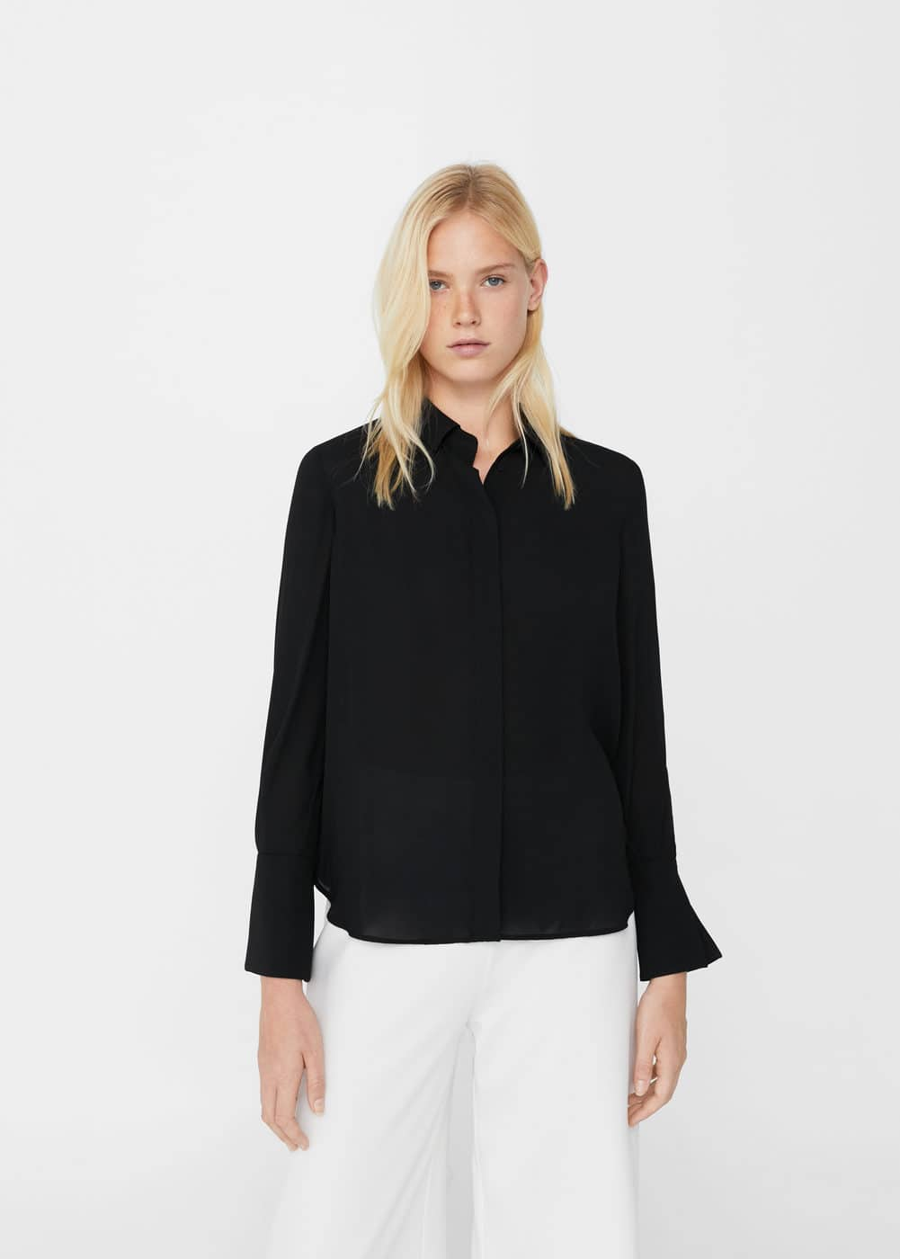 Concealed button shirt | MANGO