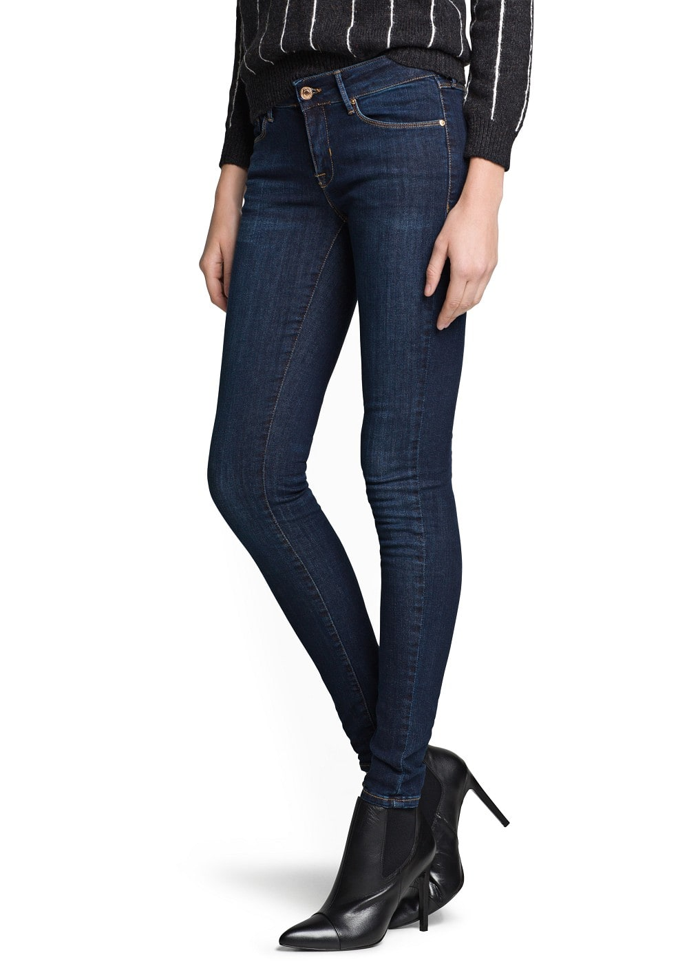 Super slim-fit dark olivia jeans | MANGO