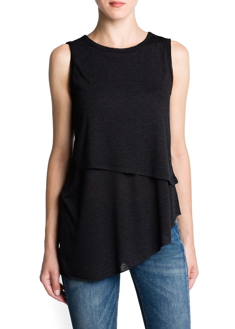 Double layer lightweight top | MANGO