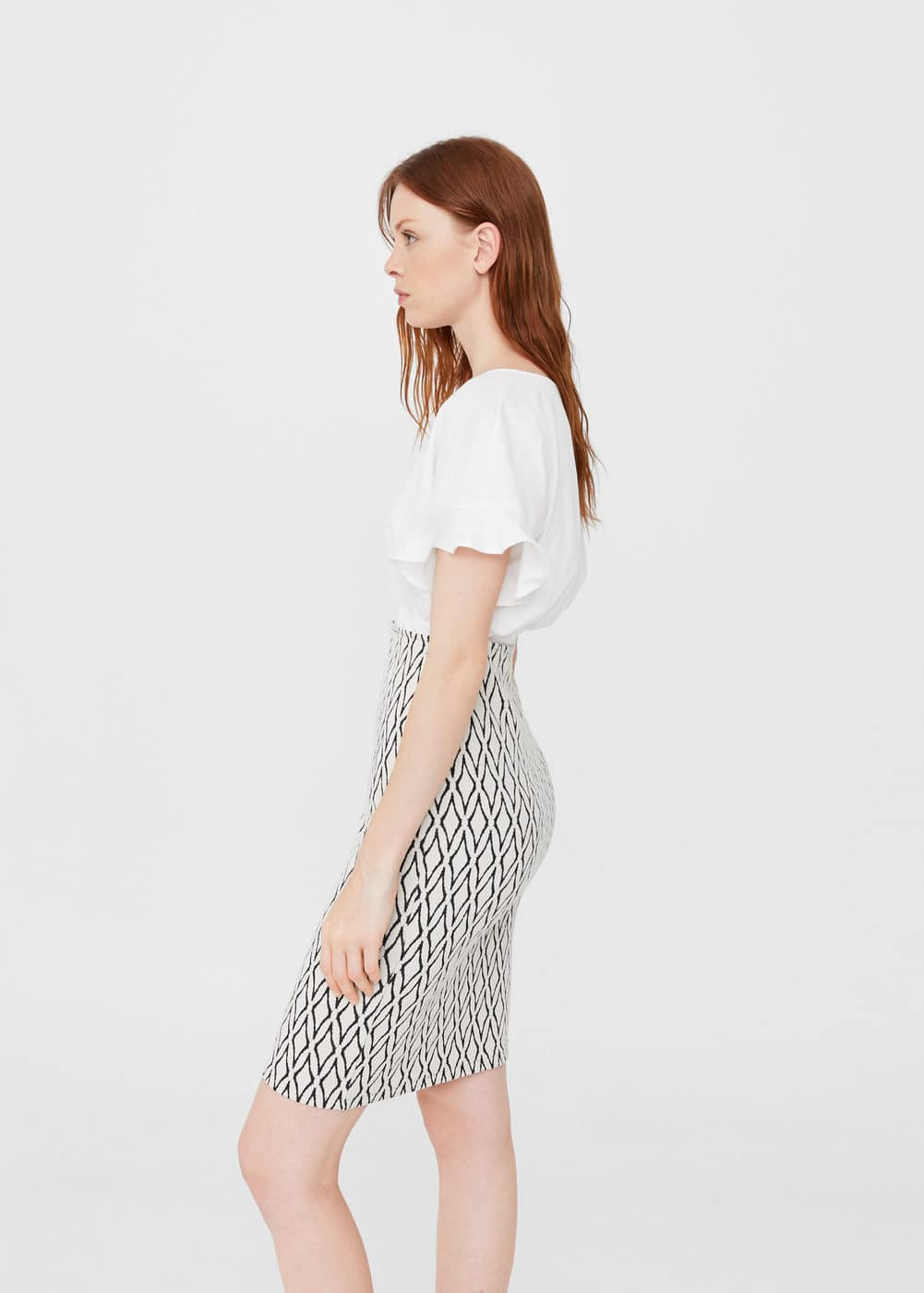 Fitted skirt | MANGO