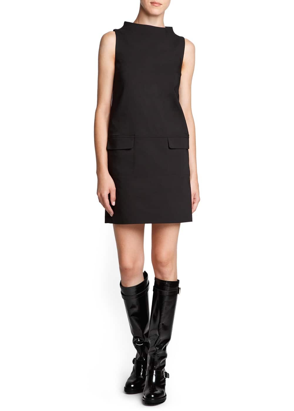 Funnel neck shift dress | MANGO