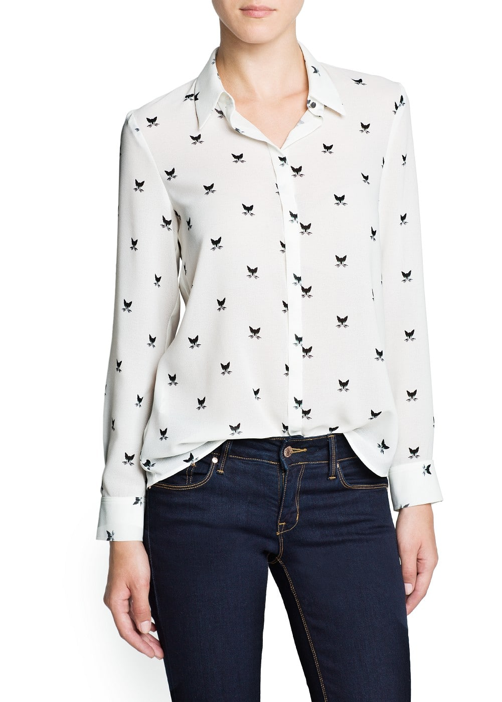 Cat lightweight blouse | MANGO