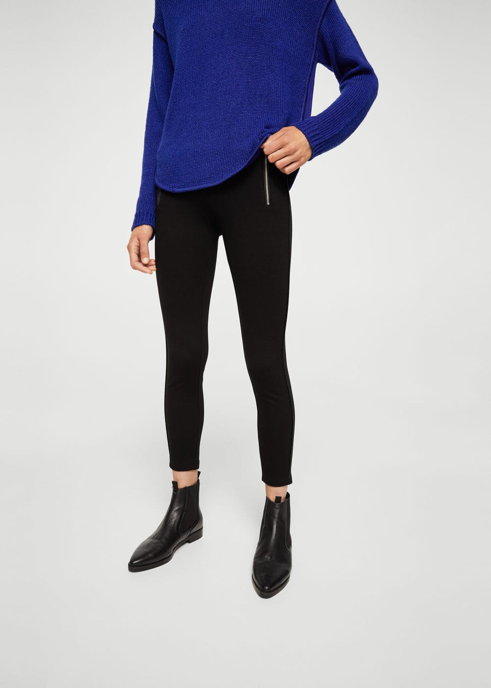 Zip pocket leggings | MANGO