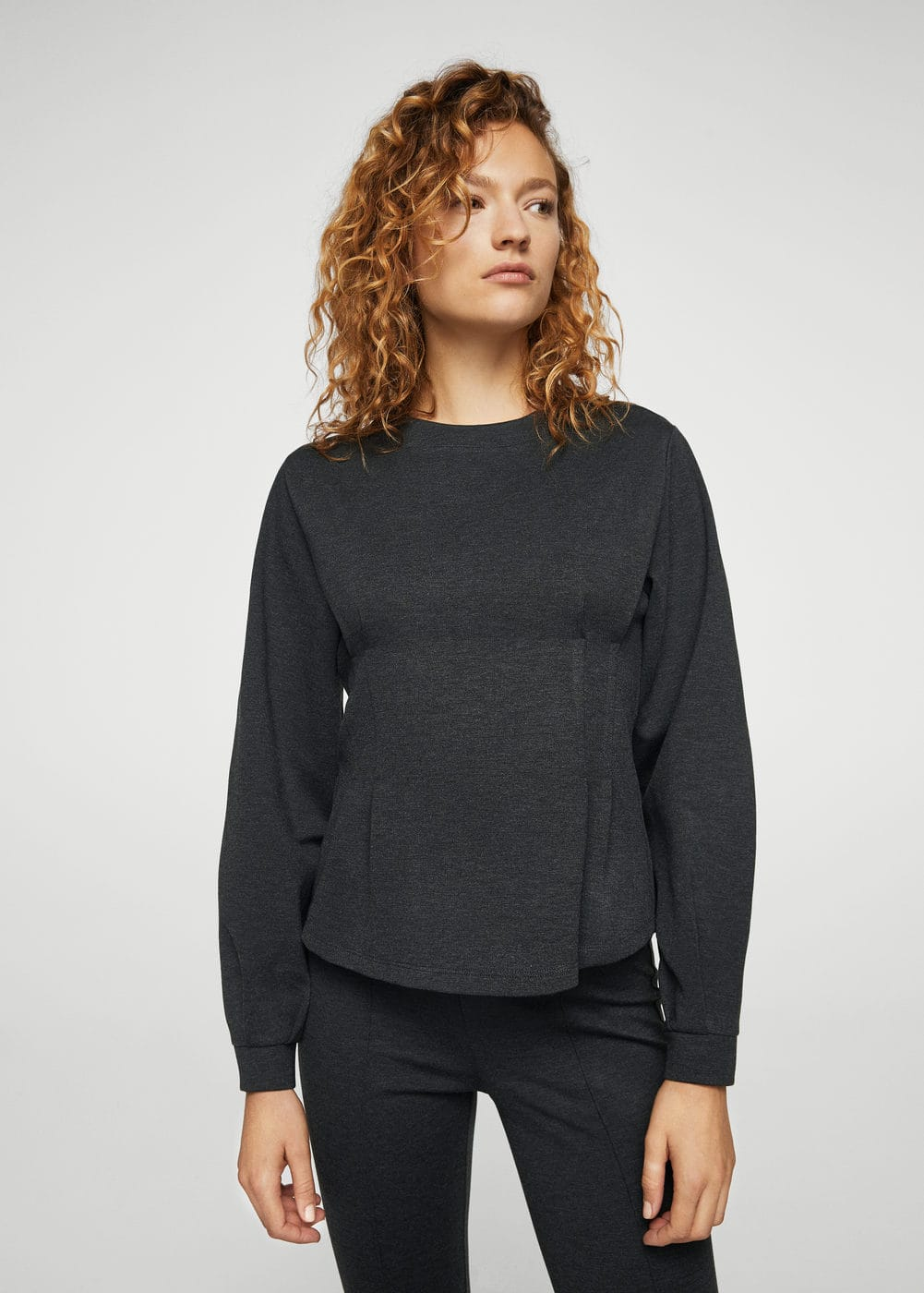 Ruched detail sweater | MANGO