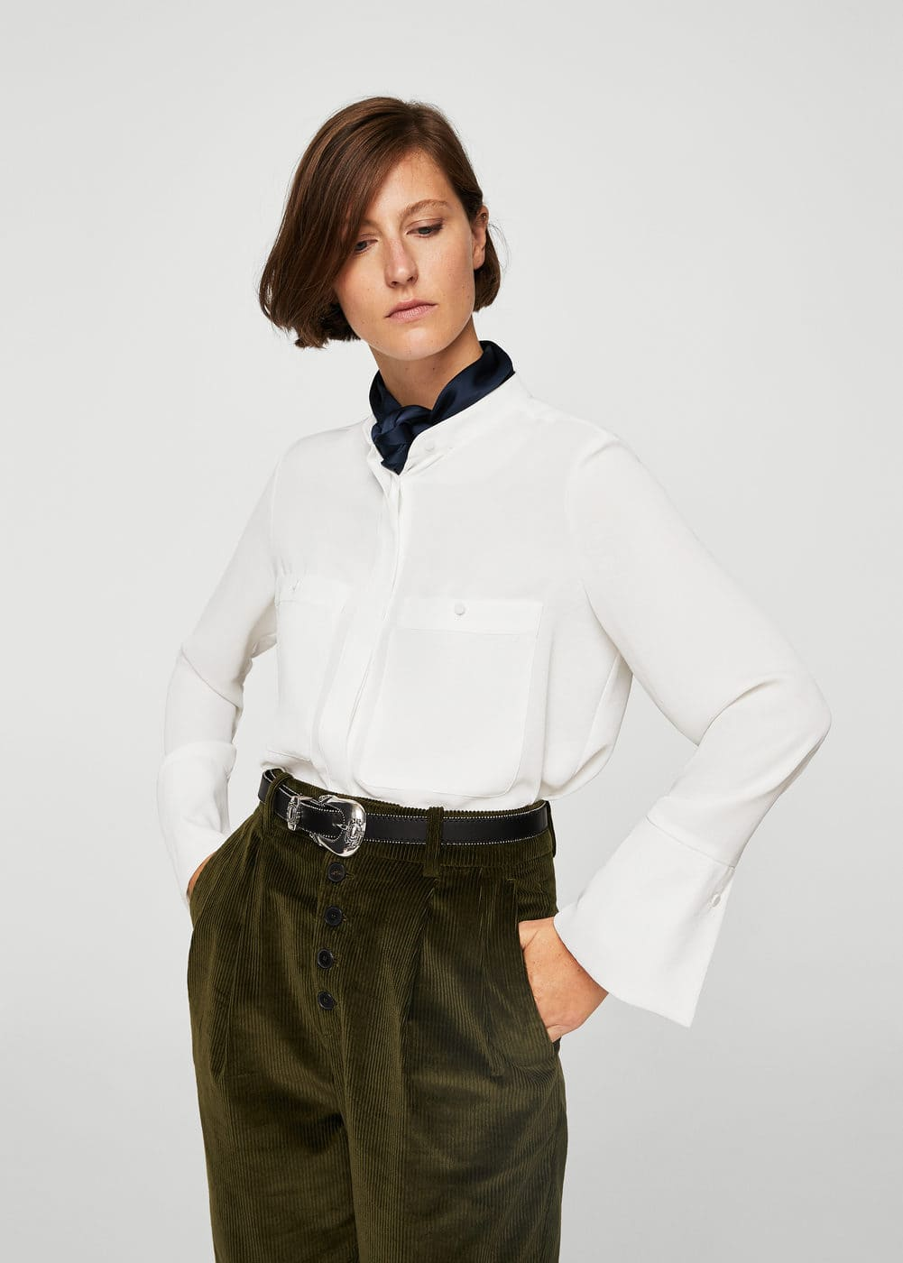 Patch pocketed shirt | MANGO