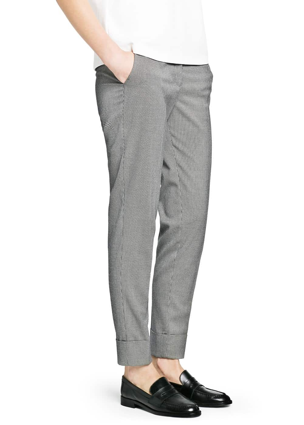 Houndstooth suit trousers | MANGO