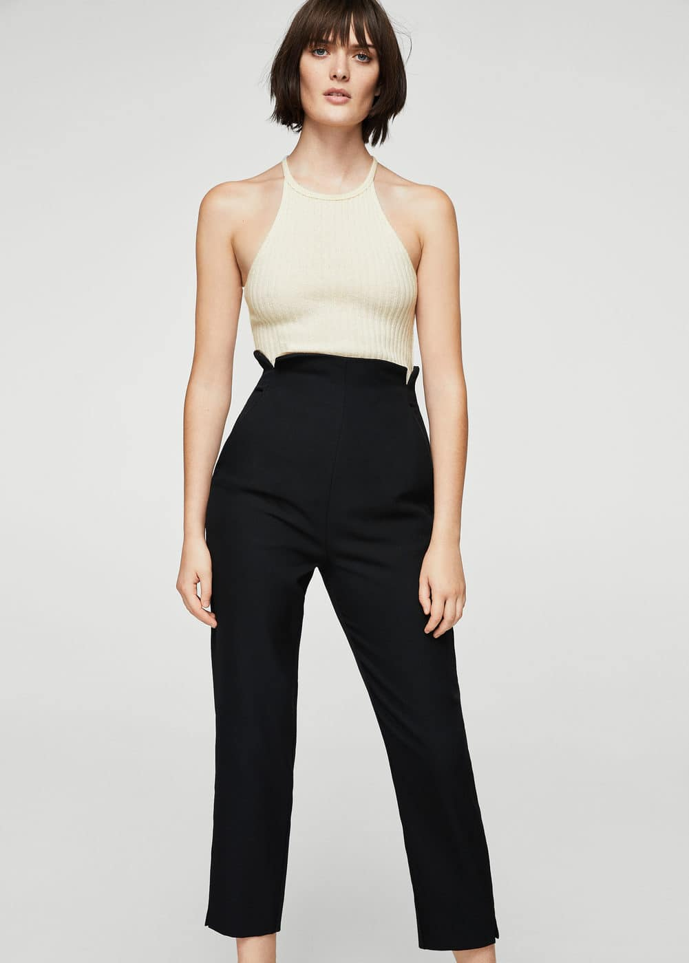 Trim wool-blend trousers | MANGO