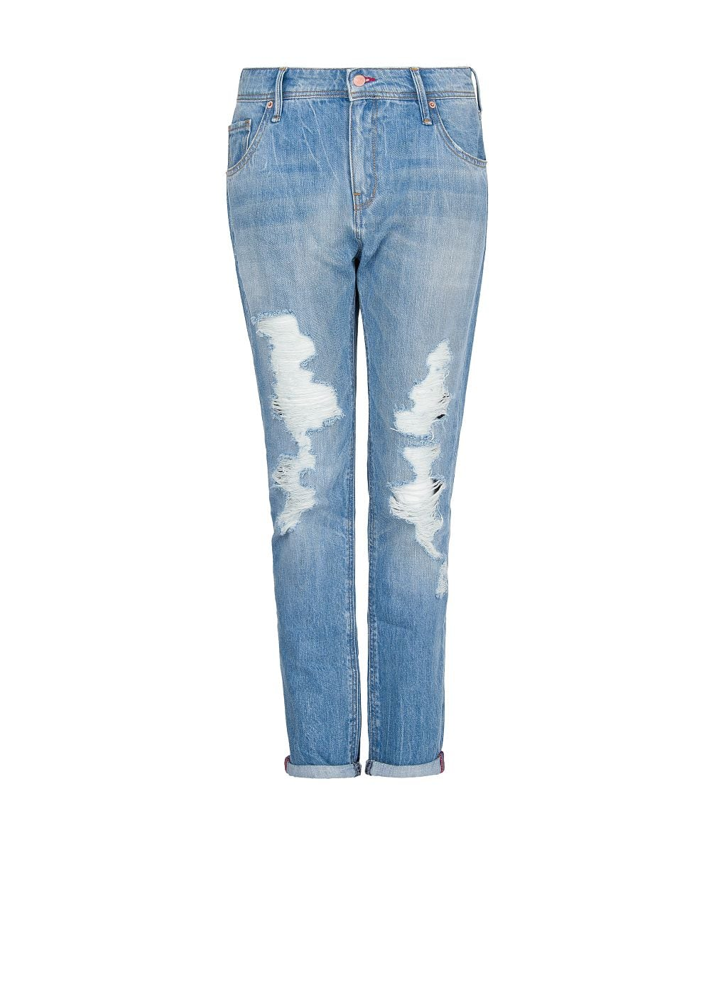 Light wash ripped boyfriend jeans - Women | MANGO USA