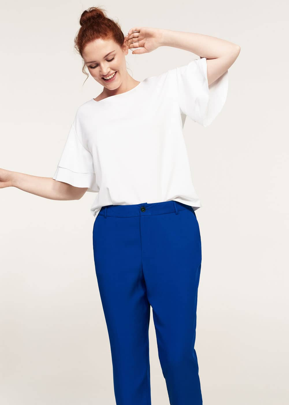 Flowy straight-fit trousers | VIOLETA BY MANGO