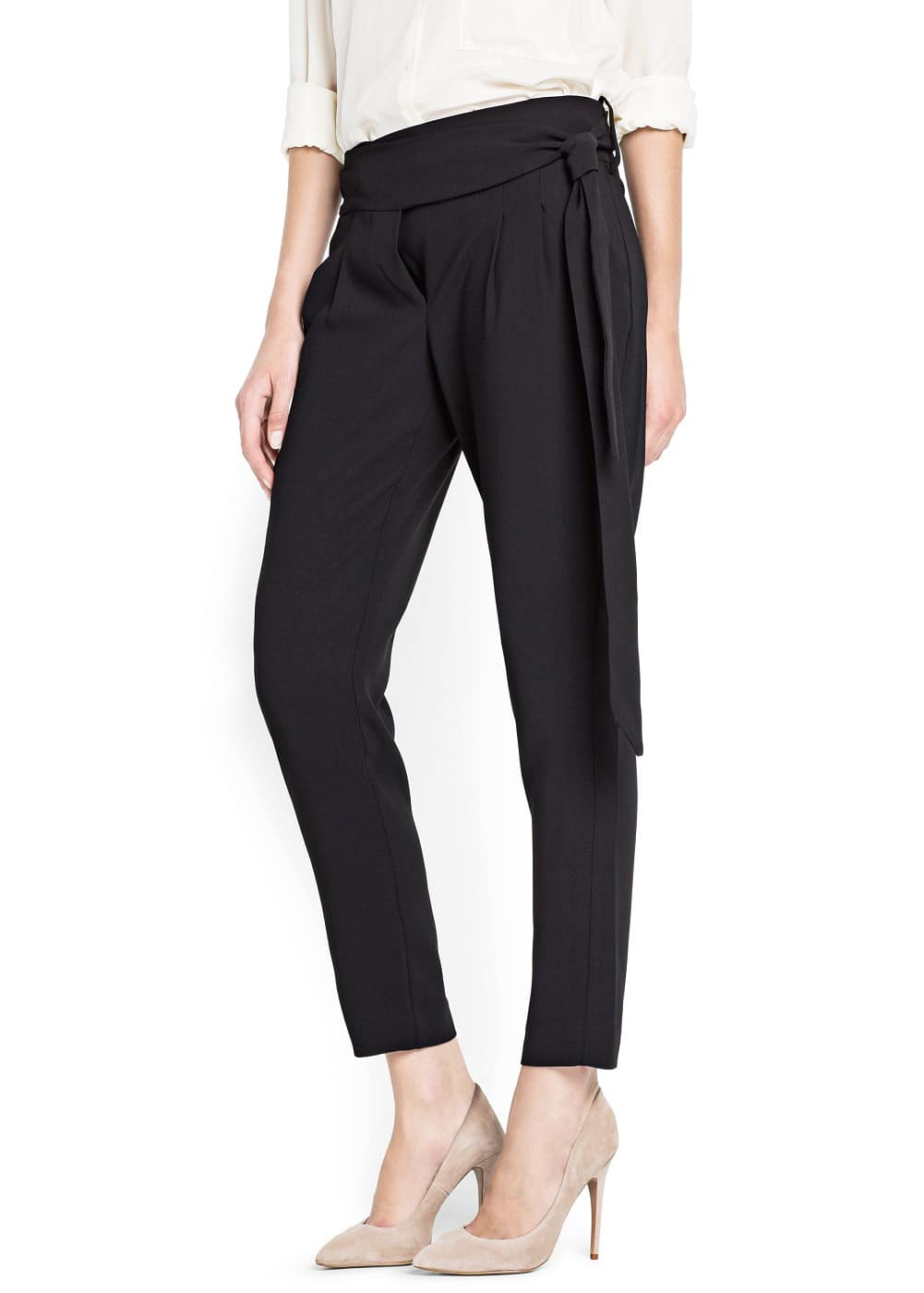 Bow tapered trousers | MANGO