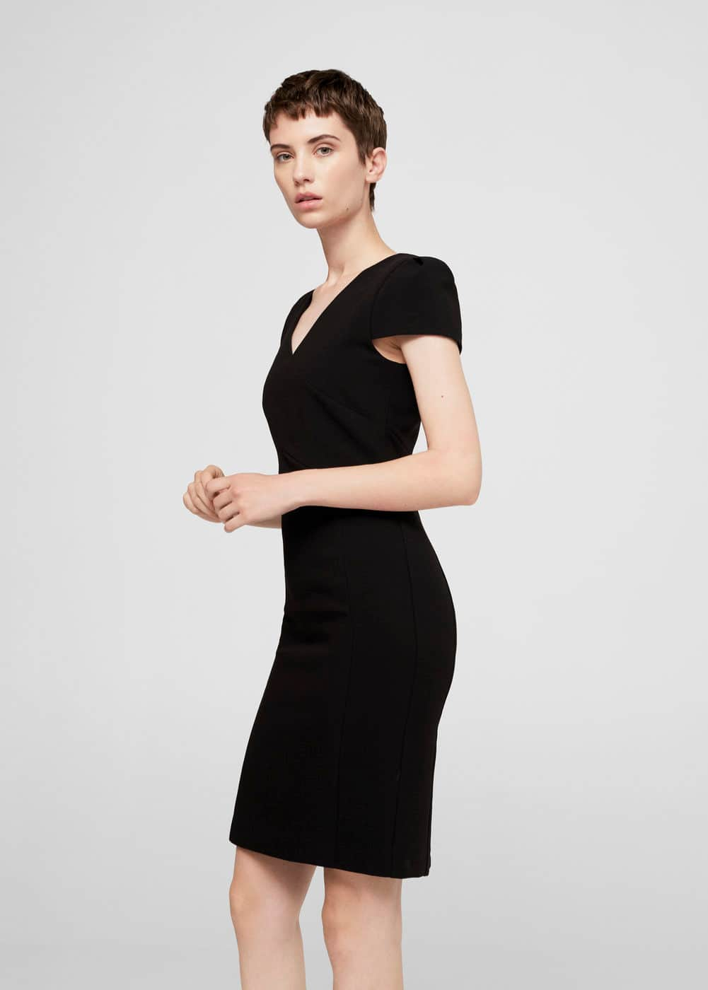 Seam bodycon dress | MANGO