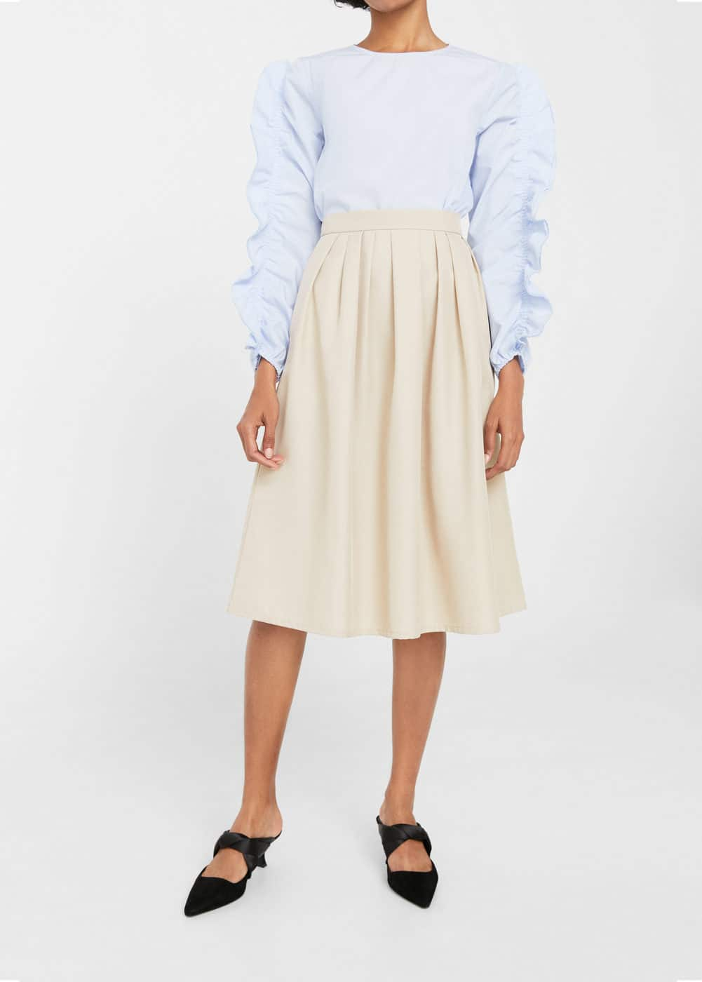Flared midi skirt | MANGO