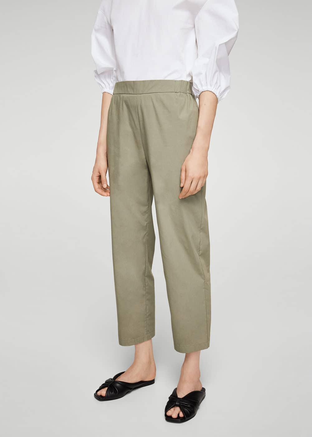 Straight cotton trousers | MANGO