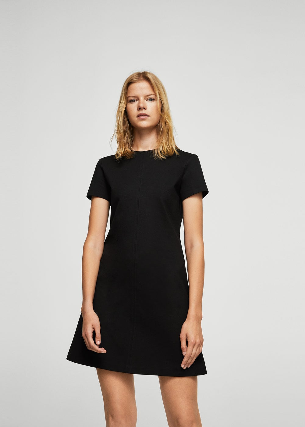 Short sleeved dress | MANGO