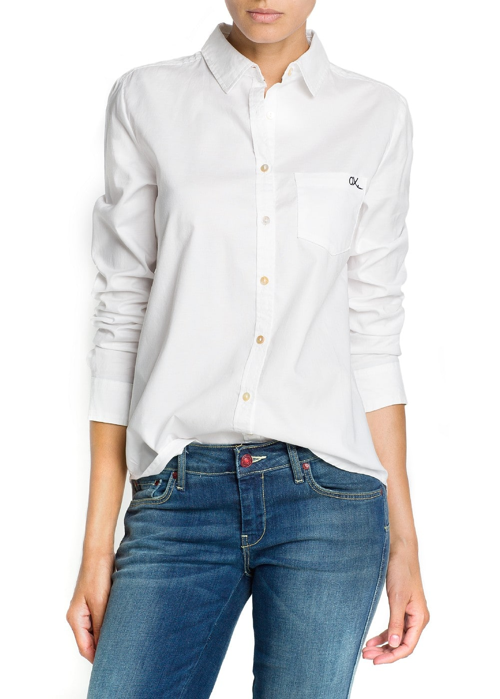 Cotton oxford shirt | MANGO