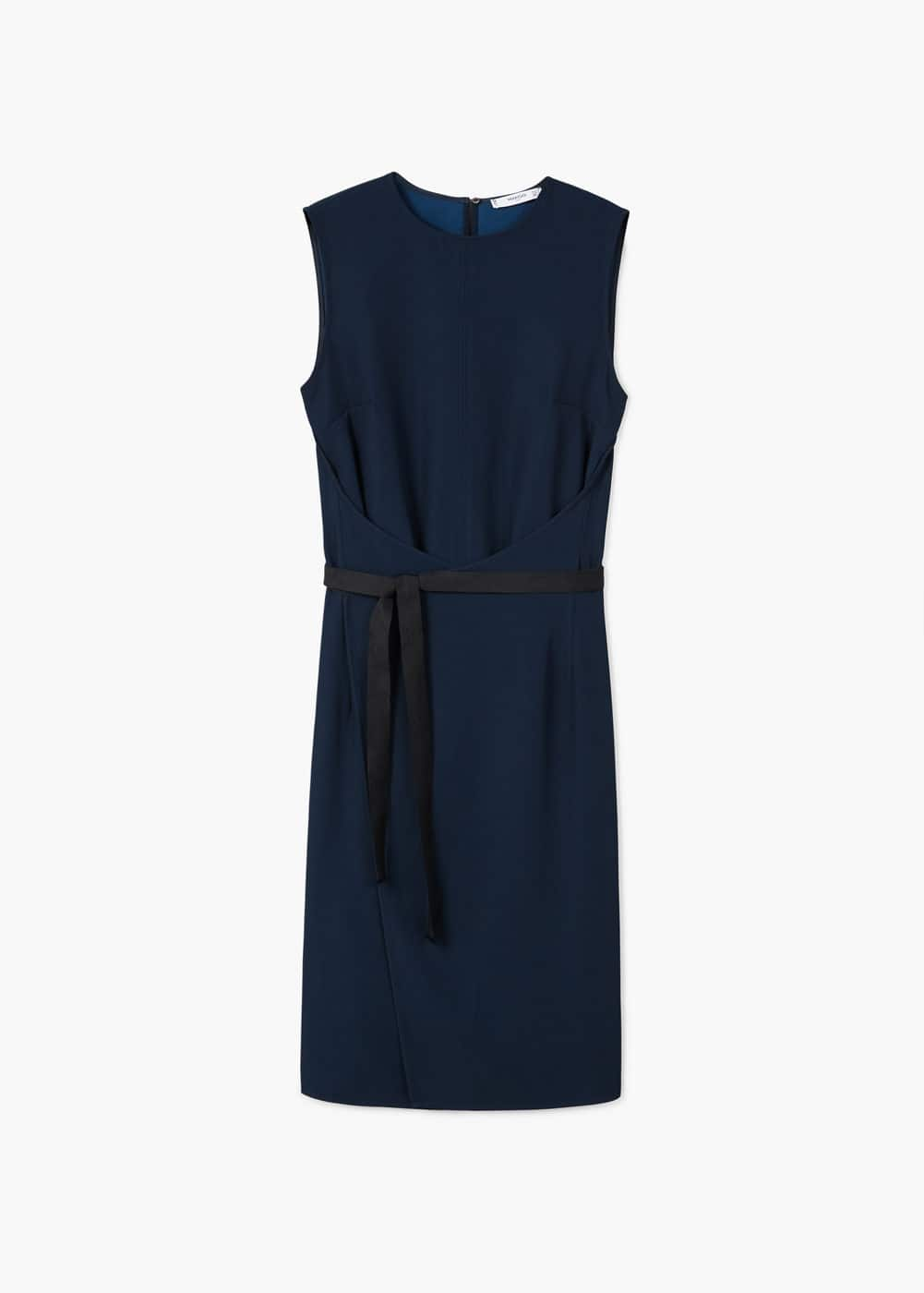 Contrast belt dress | MANGO