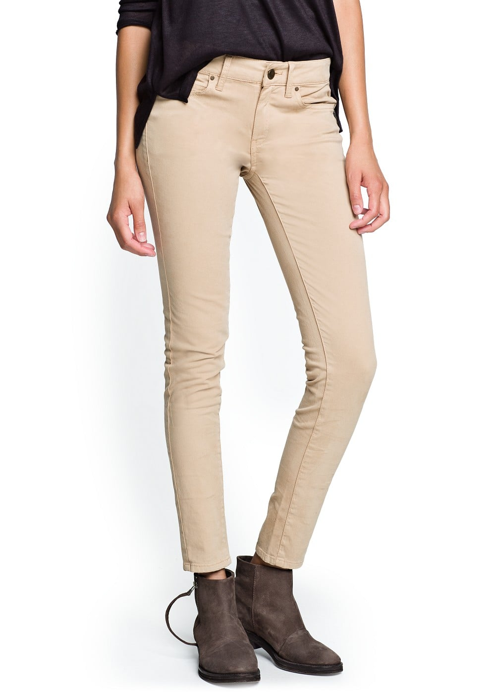 Super slim-fit camel jeans | MANGO