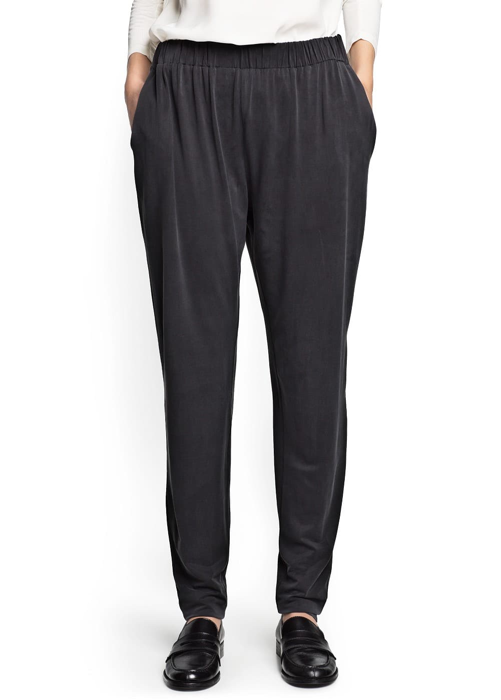 Cupro baggy trousers | MANGO