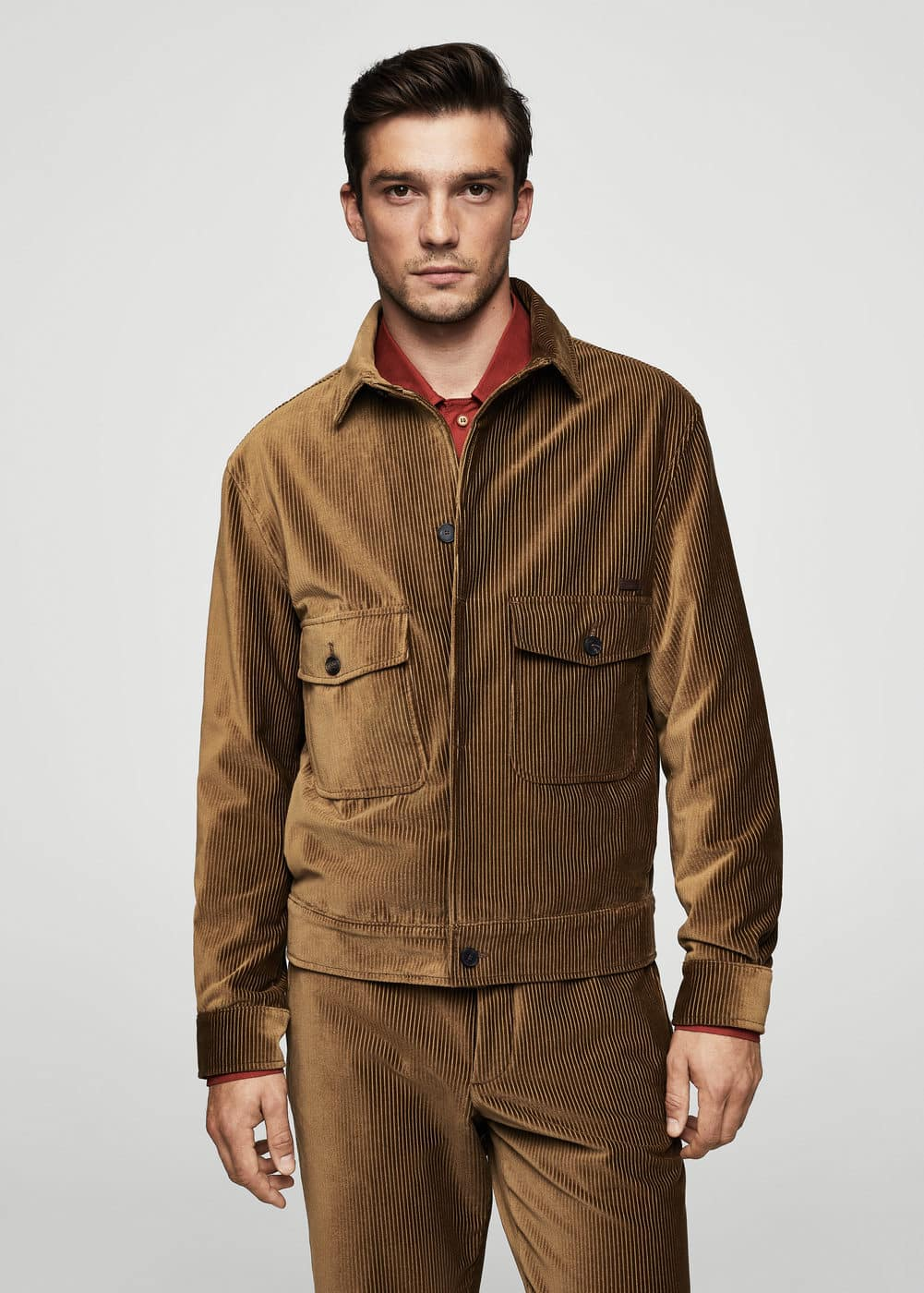 Corduroy organic cotton jacket | MANGO