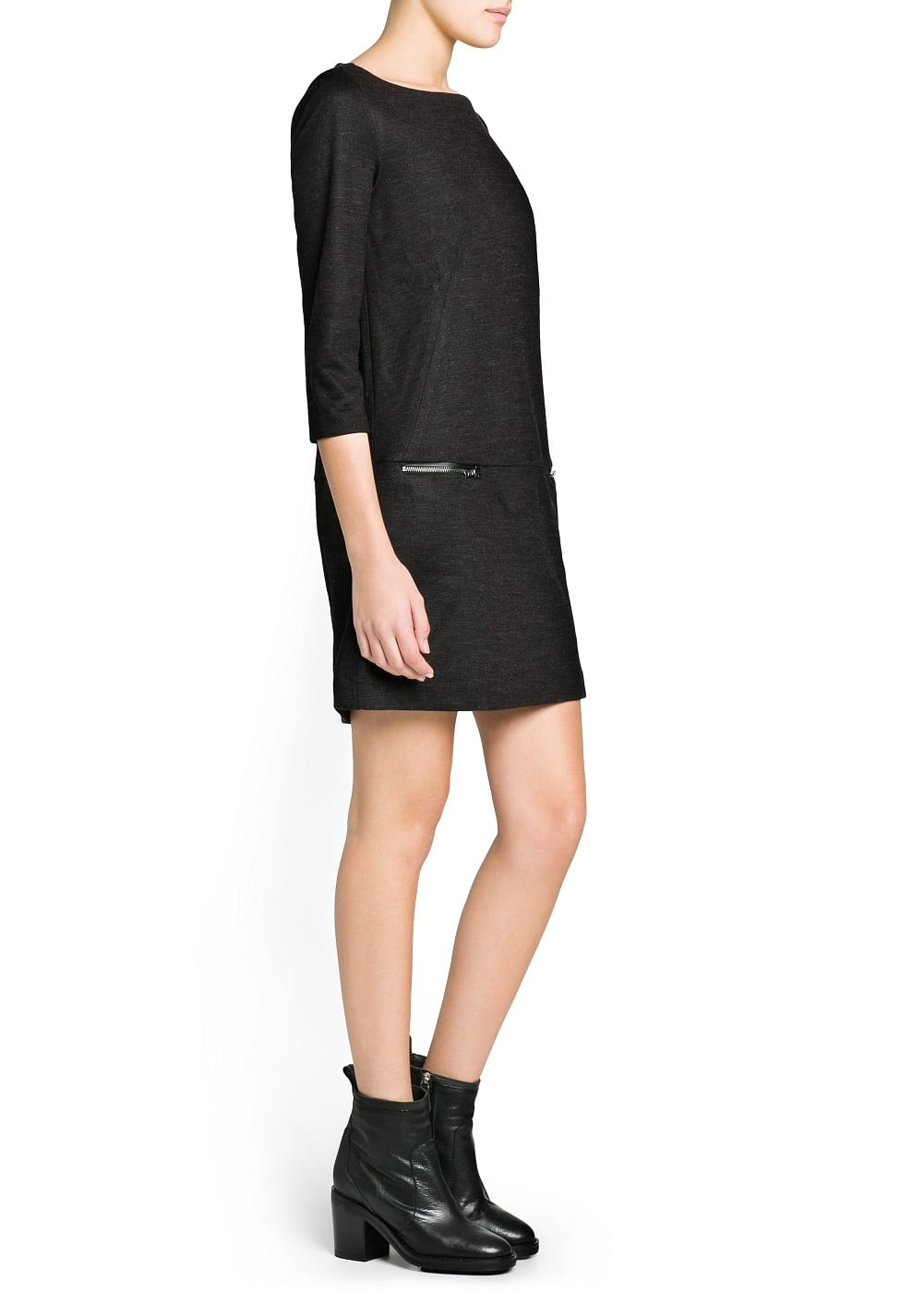 Zip shift dress | MANGO