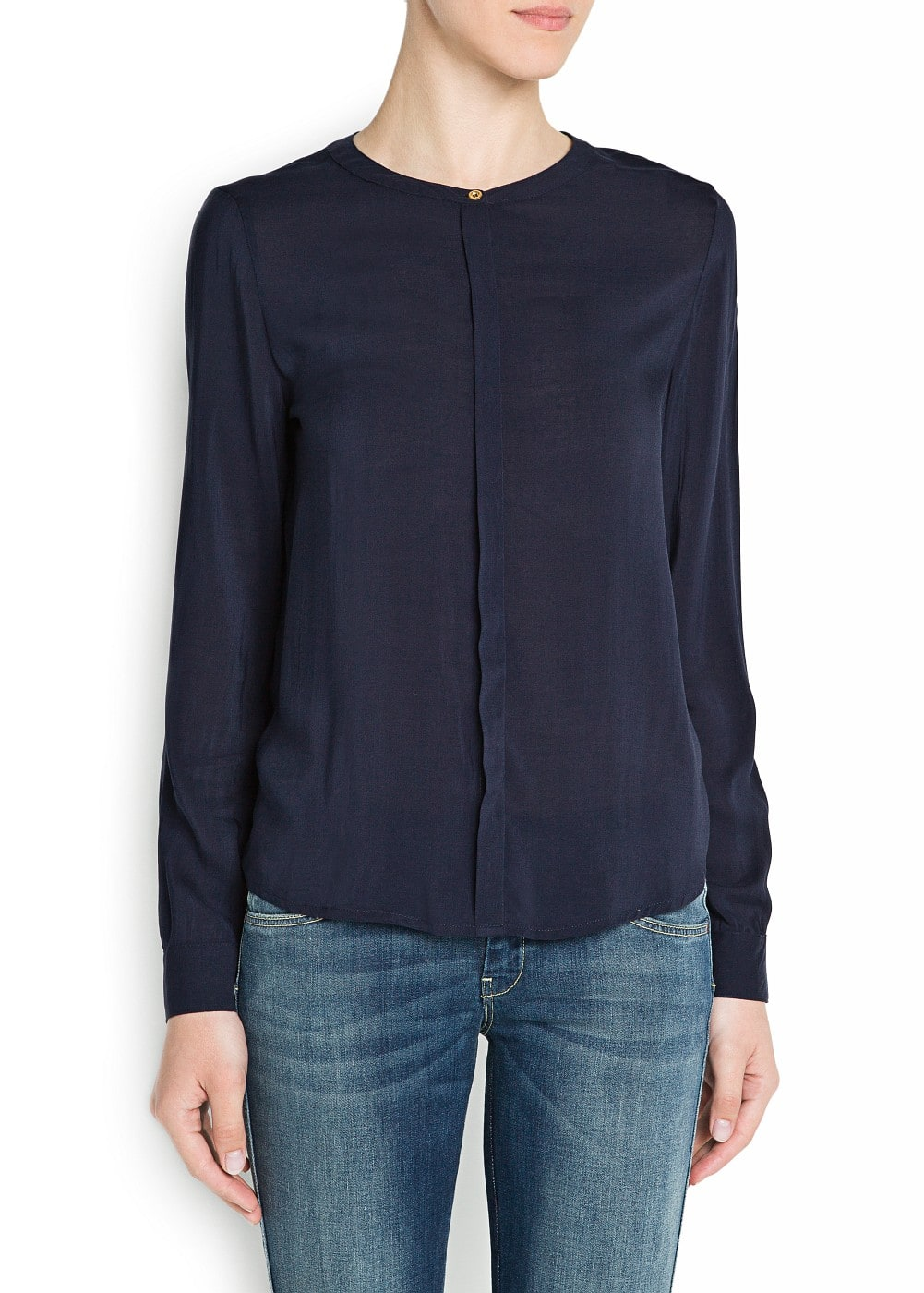 Long sleeved lightweight shirt | MANGO