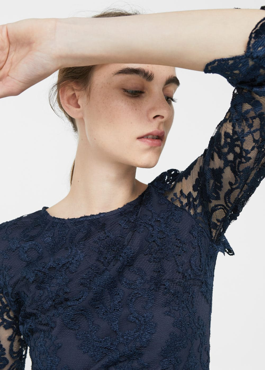 Embroidered lace dress | MANGO