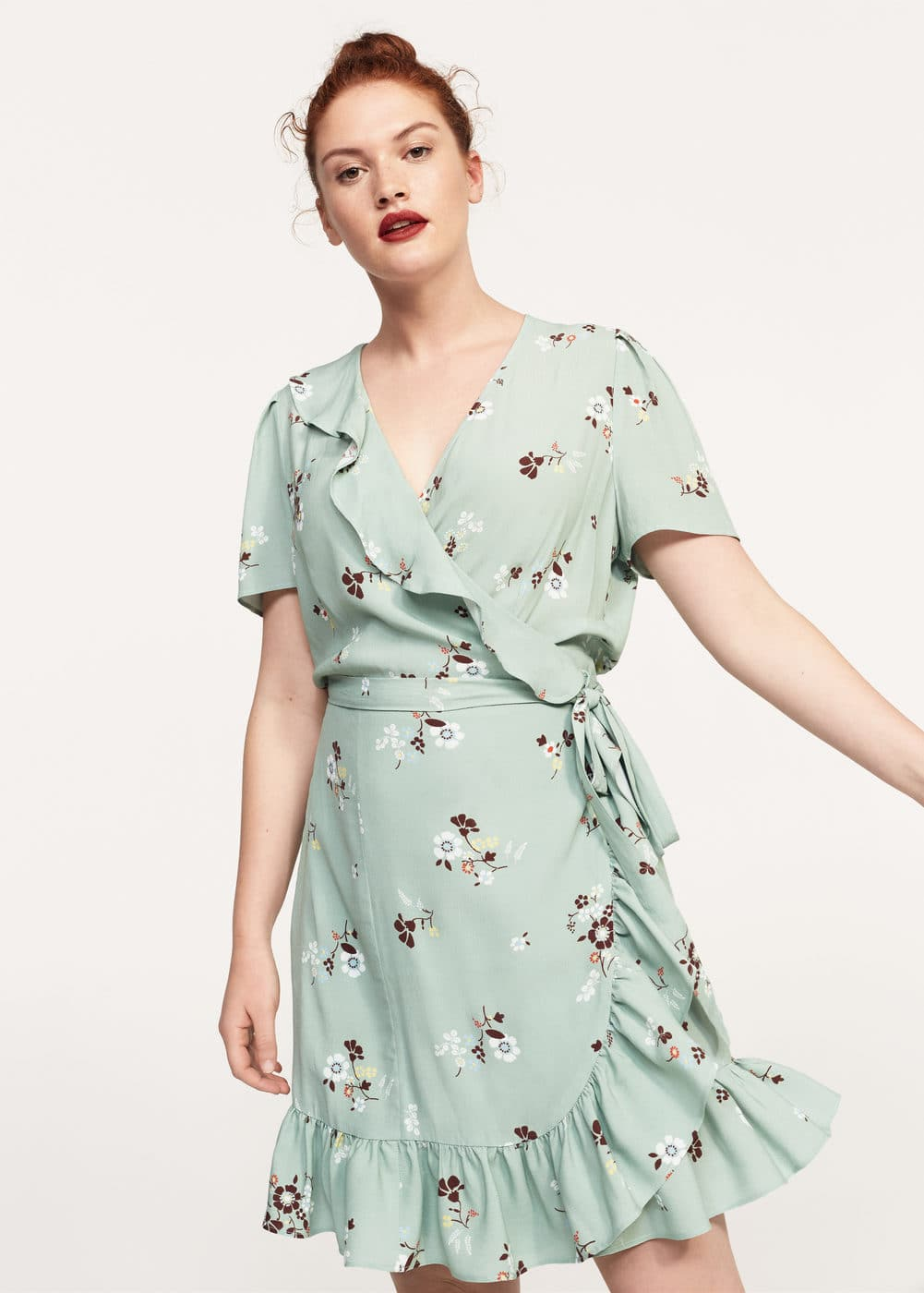 Print wrap dress | VIOLETA BY MANGO