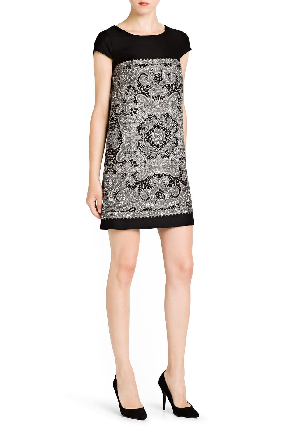 Straight-fit printed dress | MANGO