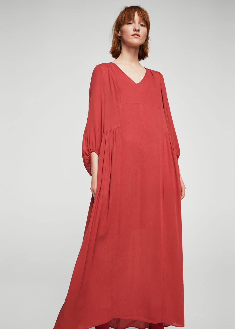 Ruched sleeve dress | MANGO