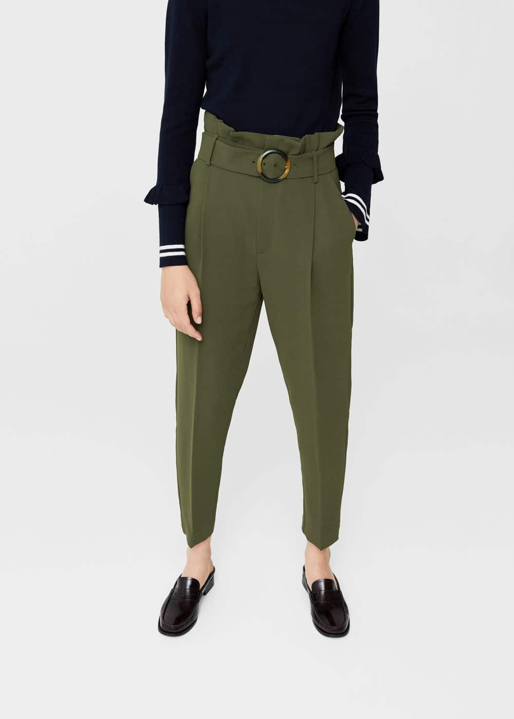 High-waist trousers | MANGO
