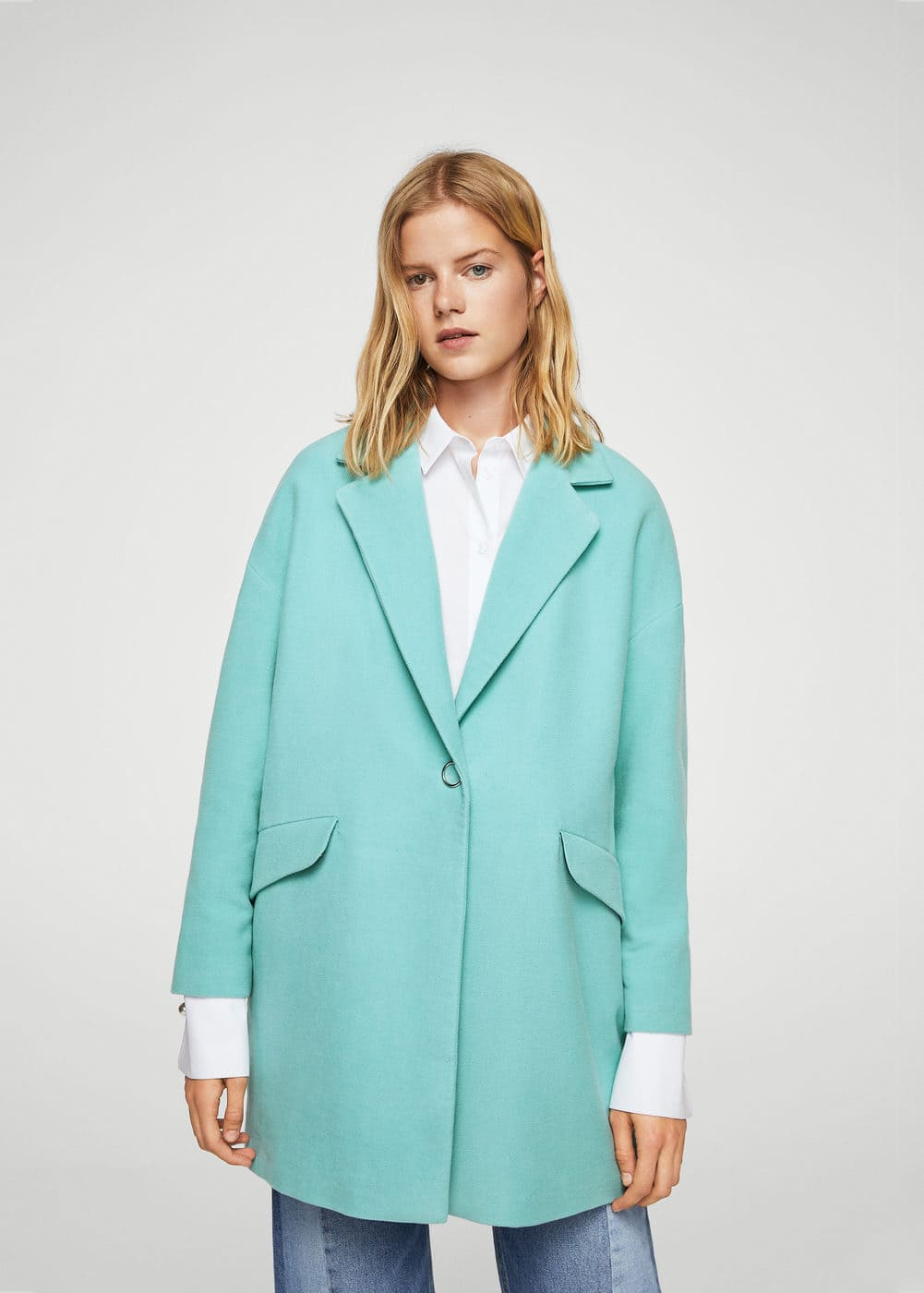 Texturised unstructured coat | MANGO