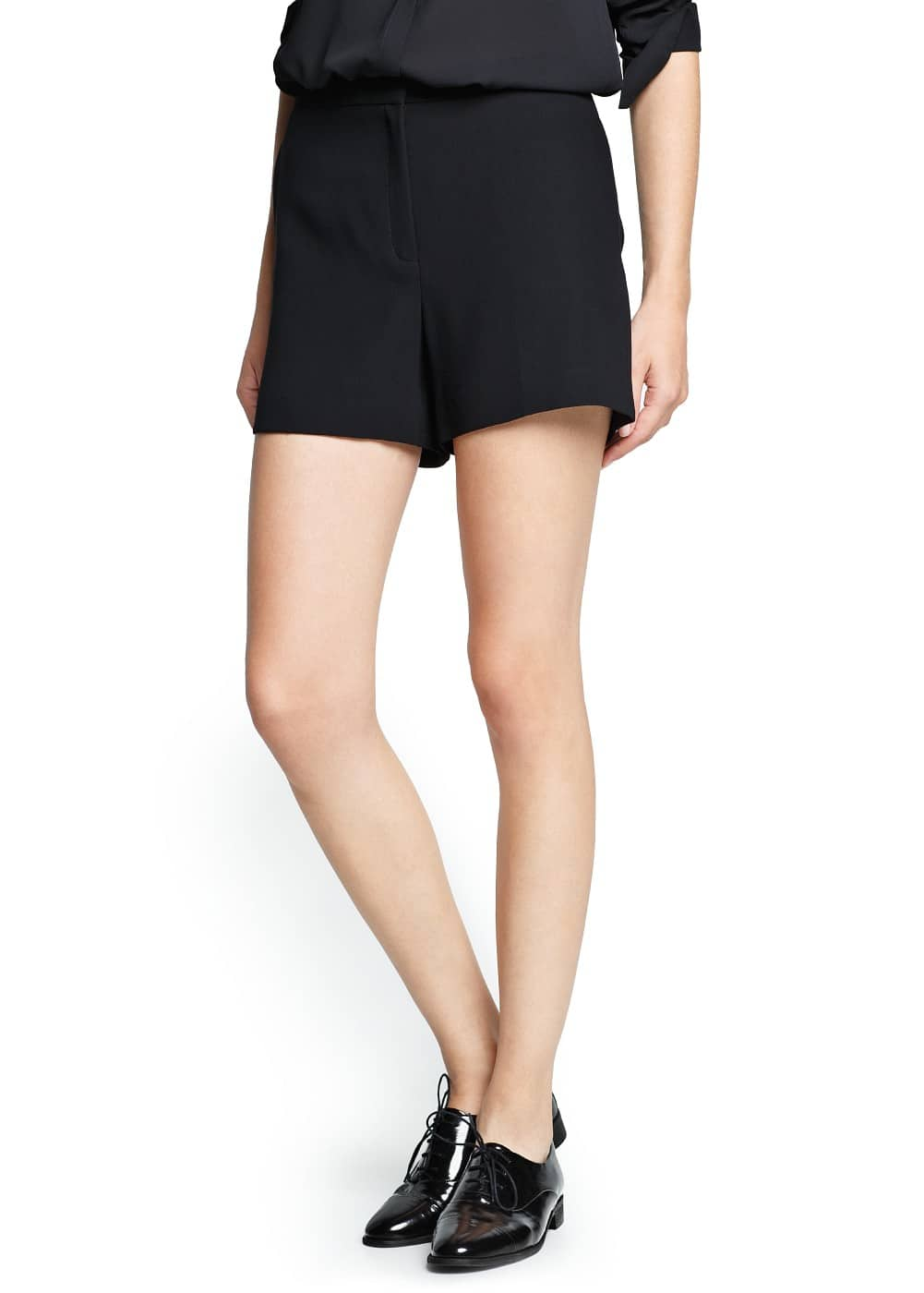 High-waist flowy shorts | MANGO