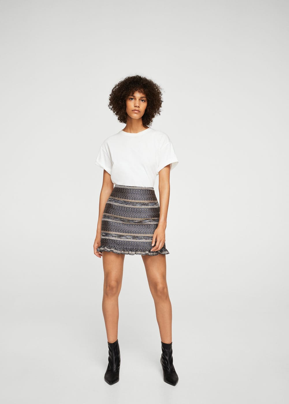 Geometric embroidery skirt | MANGO
