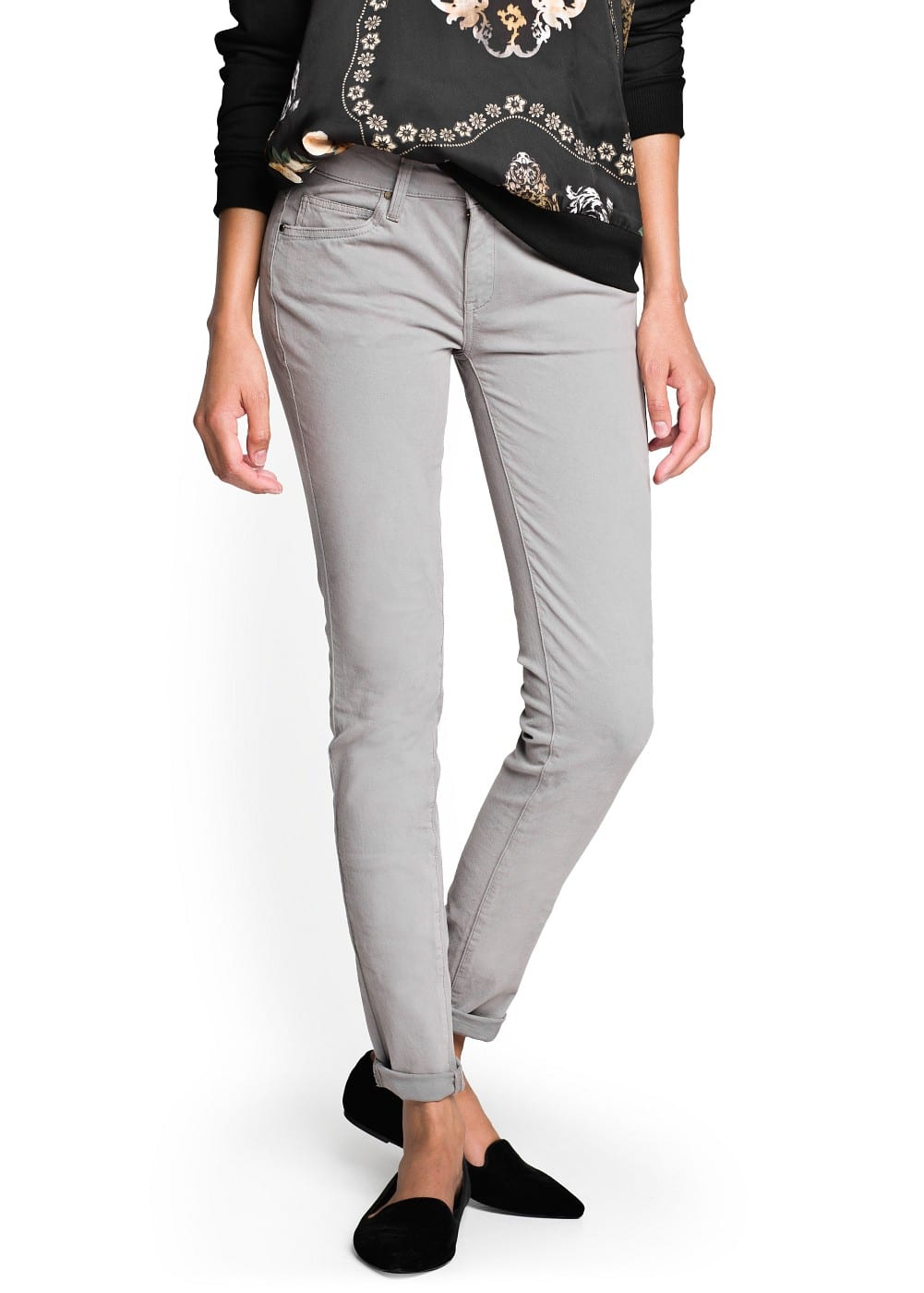 Super slim-fit grey jeans | MANGO
