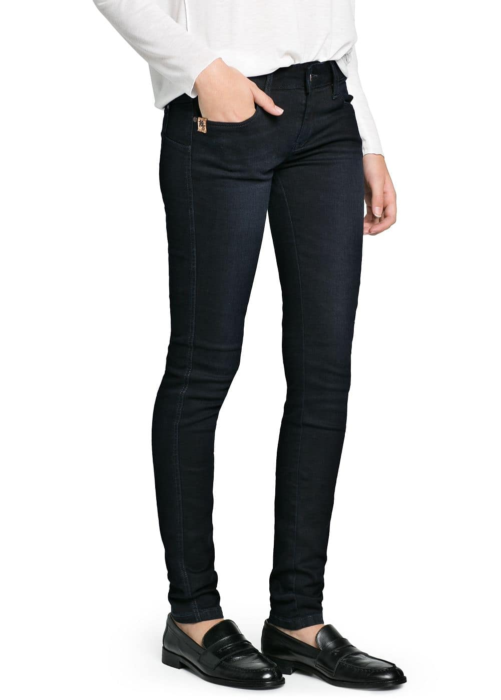 Slim-fit push-up dark jeans | MANGO