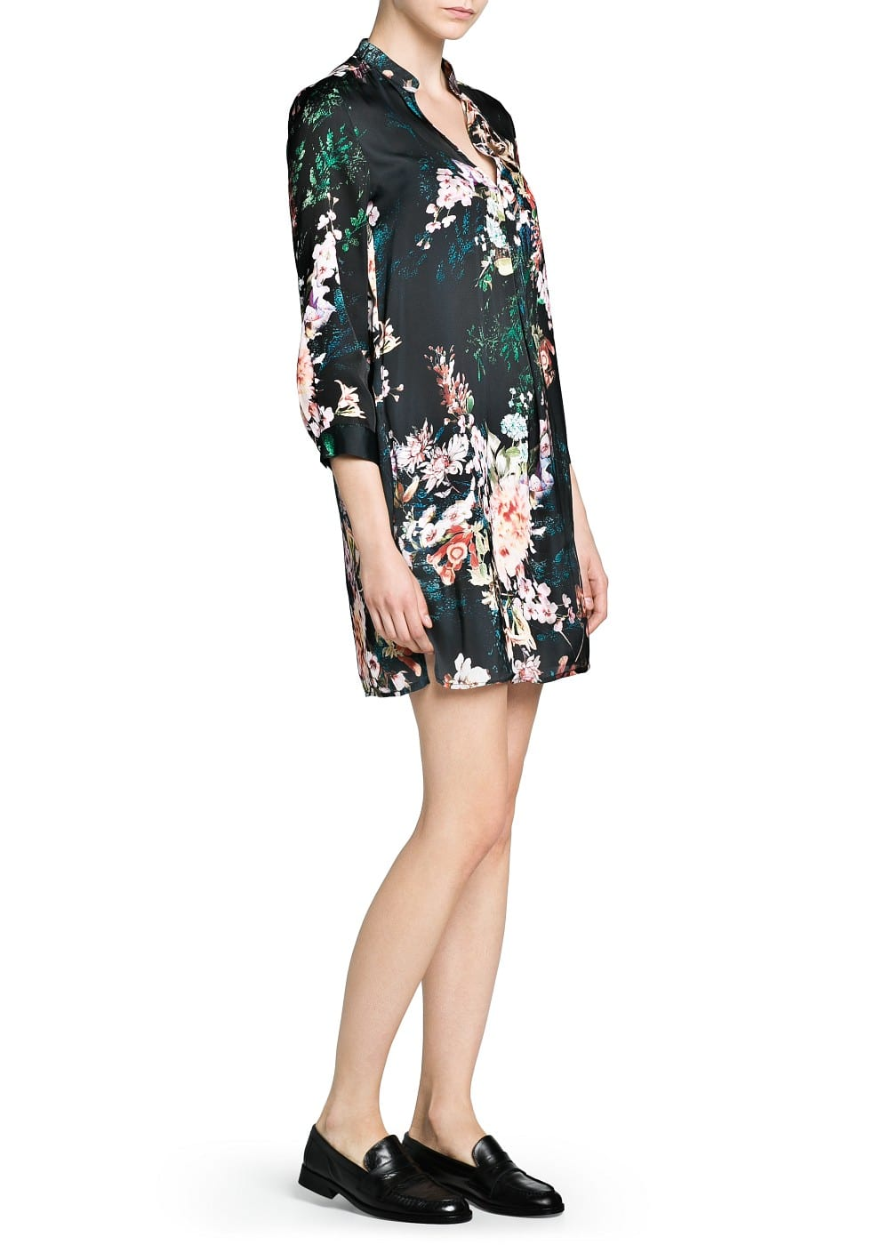 Floral print shirt dress | MANGO
