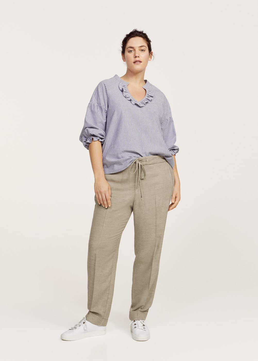 Textured baggy trousers | VIOLETA BY MANGO