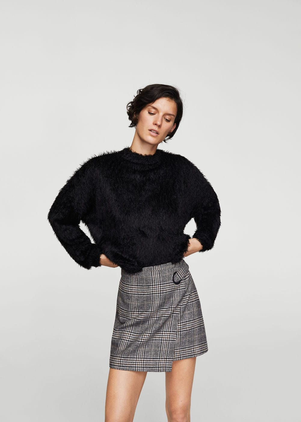Textured mohair-blend sweater | MANGO