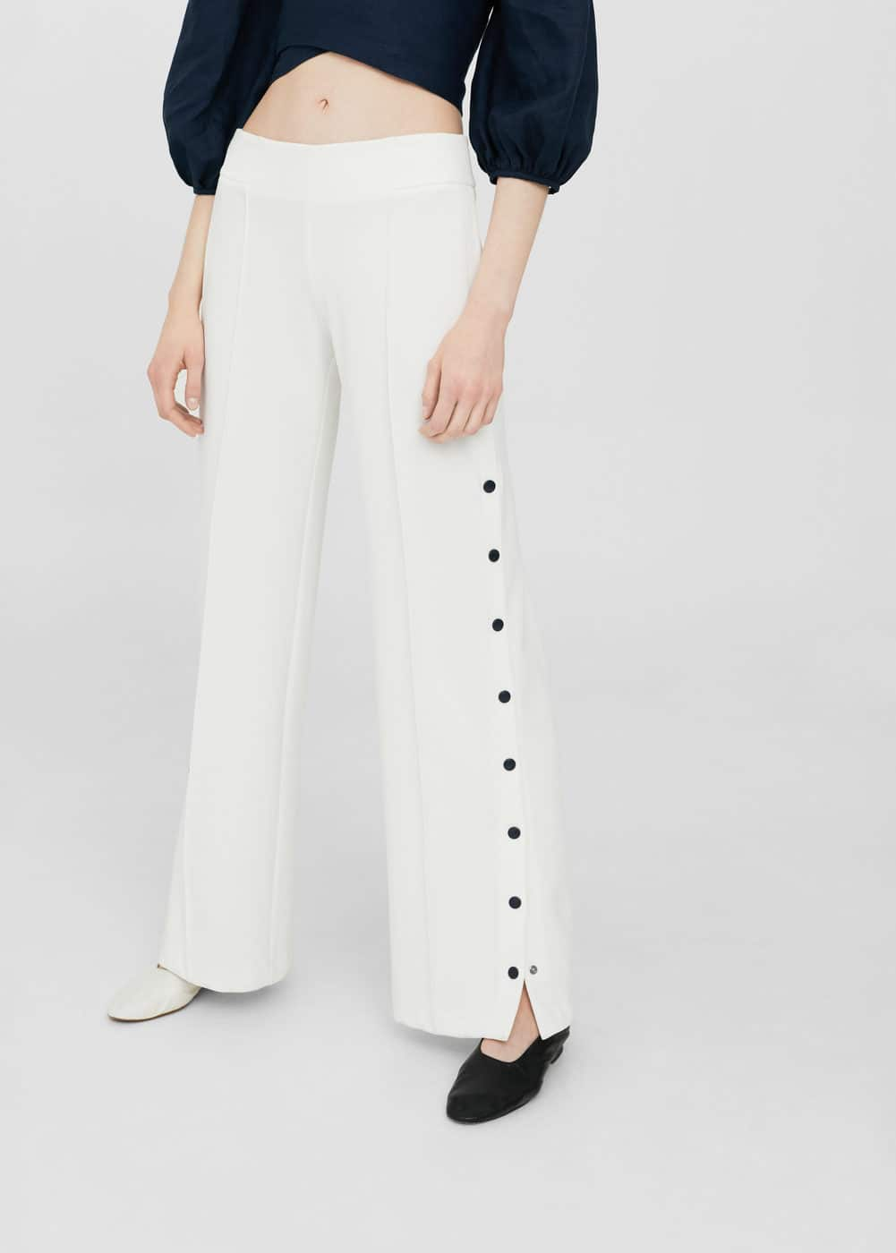 Side snaps trousers | MNG