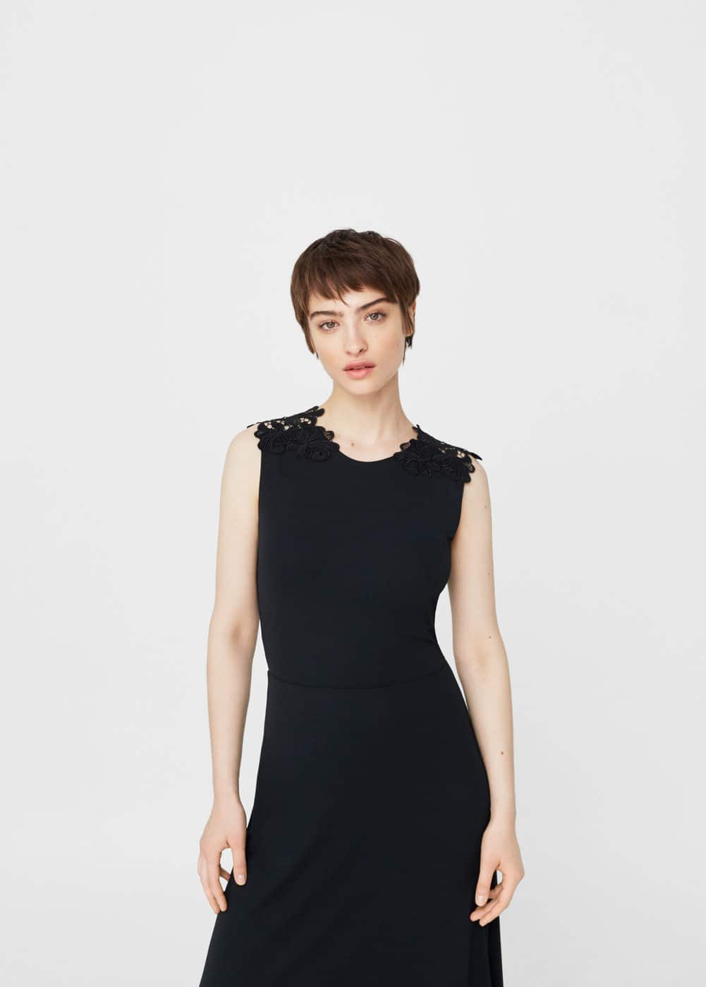 Guipure appliqué dress | MANGO