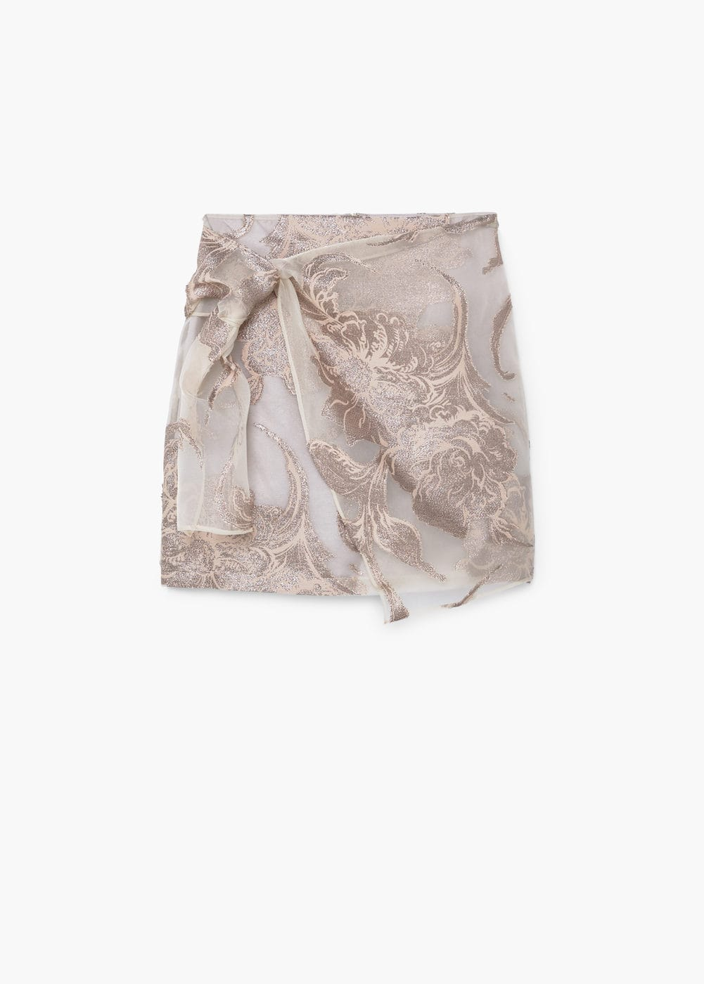 Metallic organza skirt | MANGO